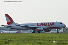 Laudamotion Airbus A320 OY-LOY London Stansted Airport (bananamanuk79) Tags: planewatch pictures aviation airplane airport london flying flight runway air travel transport pilot avgeek airways takeoff departure flyer vehicle outdoor airliner jet jetliner flyers travelling jumbo logo livery painted airplanes aicraft photos airline airliners airlines stansted worldwide spotter planespotting landing laudamotion airbusa320