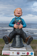 Brave Wee Boy (syf22) Tags: oorwullie art trail kid boy depict painting figure charity fundraising sculpture carving model cast cut mode bucket