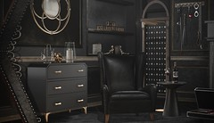 Master's Room (desiredarkrose) Tags: interior decor secondlife fancydecor furniture master chair gold black secondlifedecor sl sldecor slblog ineeddecor decoration fapple anxiety uber collabor88