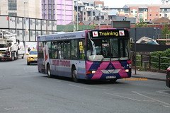 First last-minute training (SelmerOrSelnec) Tags: firstmanchester volvo b10ble wright r621cvr manchester bridgestreet drivertrainer bus
