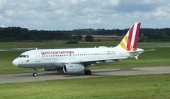 D-AGWJ (Gary Kenney Aviation) Tags: dagwj germanwings eurowings a319 airbus edinburgh airport airplane