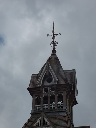 King George V Primary School - Beeches Road, West Bromwich - clock tower - weather vane