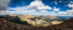 View From Mt. Elbert Summit (Uncharted Sights) Tags: mt elbert summit 14er rocky mountains pano panorama nature landscape outdoors hike travel colorado mountain peak canon 80d 1018