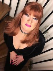 Hello... (Sissy kaylah) Tags: trannie trans transvestite tranny tg tgirl tgurl tv redhead heavymakeup dress velvet crossdress crossdressing crossdresser cd delicious slut collar