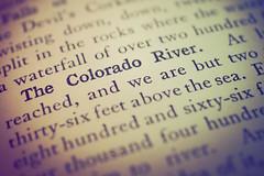 The Colorado River (christiane.grosskopf) Tags: printedword macromondays thecoloradoriver oldbook inkonpaper