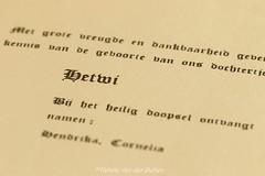 Mijn  geboorte  kaartje (Hetwie) Tags: macromondays geboortekaartje drukwerk writtenwords printedwords macromaandag tekst birthannouncementcard