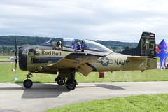 North American T-28B Trojan Red Bull Race Day Grenchen Airport Switzerland (roli_b) Tags: north american t28b t28 red bull race day grenchen airport switzerland schweiz suisse suiza svizzera show oldie oldtimer aircraft airplane aviation avion flugzeug flieger aereo 2019 trojan