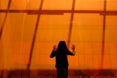 (Natalia K.) Tags: orange girl airport fujifilmx100f nataliaklimovaphotography