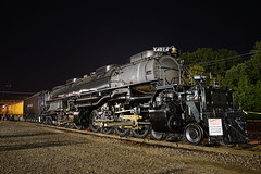 4014, at night! (Jacob Narup) Tags: unionpacific up unionpacificbigboy unionpacific4014 up4014 4014 4884 bigboy upbigboy steam steamengine steamlocomotive steamtrain night nightexposure yard trainyard train trains railfan railroad railfanning cedarrapids cedarrapidsia cedarrapidsiowa stars