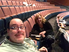Day 2640: Day 84: In the theater (knoopie) Tags: 2019 march iphone selfportrait picturemail doug knoop knoopie me 365days 365daysyear8 year8 365more day84 theater rehearsal driftwoodplayers jenny david day2640