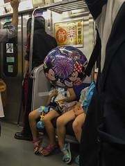 夏休みの目玉むすめ (kasa51) Tags: people street train summer iphoneography outoffocus camerashake
