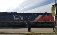 CN 3093 & Tristan (Trains By Perry) Tags: canadiannational cn locomotive dpu tristan