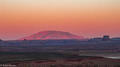 Navajo Mountain basking in alpenglow (mzihizlk10) Tags: page arizona unitedstates