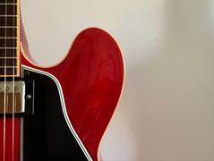 the red guitar (saudades1000) Tags: red guitar redguitar musical instrument vermelho guitarravermelha
