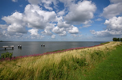 Medemblik (Julysha) Tags: medemblik lake thenetherlands noordholland sky clouds sunny 2019 ijsselmeer summer august d810 nikkor1635vr acr grass dike