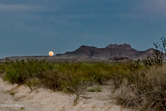 Moonrise over Terlingua Ranch. May, 2019
