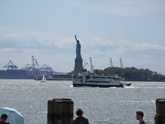 2019 Statue of Liberty with Sail Boat Battery Park 7460 (Brechtbug) Tags: 2019 statue liberty ellis island view from battery park lower manhattan new york city winter 08102019 nyc 30 rock cityscape south skyline urban snow covered afternoon august summer summertime sculpture lighthouse french gift france building art arts birthday lady eiffel frederic auguste bartholdi
