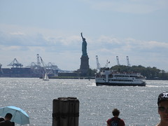2019 Statue of Liberty with Sail Boat Battery Park 7459 (Brechtbug) Tags: 2019 statue liberty ellis island view from battery park lower manhattan new york city winter 08102019 nyc 30 rock cityscape south skyline urban snow covered afternoon august summer summertime sculpture lighthouse french gift france building art arts birthday lady eiffel frederic auguste bartholdi