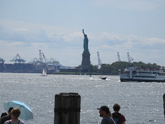 2019 Statue of Liberty with Sail Boat Battery Park 7458 (Brechtbug) Tags: 2019 statue liberty ellis island view from battery park lower manhattan new york city winter 08102019 nyc 30 rock cityscape south skyline urban snow covered afternoon august summer summertime sculpture lighthouse french gift france building art arts birthday lady eiffel frederic auguste bartholdi