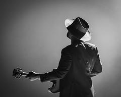 Abraham Alexander Black and White Portrait (dyl.n) Tags: musician backlit concert music video electric guitar minimal white background silhouette fort worth texas dallas leon bridges abraham alexander black portrait studio