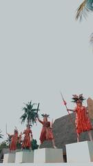 Dayak Tribe (uwi~♫) Tags: indonesia dayak dayaktribe tribe visitindonesia wonderfulindonesia photography photograph people statue