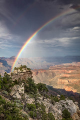 A Few Drops and a Rainbow (Kirk Lougheed) Tags: arizona coloradoplateau duckonarock grandcanyon grandcanyonnationalpark southrim usa unitedstates canyon landscape nationalpark outdoor park rainbow rim sky