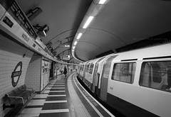 London tube (Steve only) Tags: olympus pen ep5 panasonic lumix g vario 14714 asph 7144 714mm f4 m43 bw monochrome 黑白 snap england london underground tube railway station