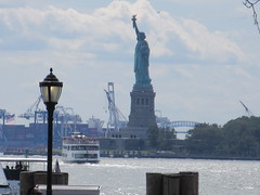 2019 Statue of Liberty with Ferry Boats Battery Park 7391 (Brechtbug) Tags: 2019 statue liberty ellis island view from battery park lower manhattan new york city winter 08102019 nyc 30 rock cityscape south skyline urban snow covered afternoon august summer summertime sculpture lighthouse french gift france building art arts birthday lady eiffel frederic auguste bartholdi