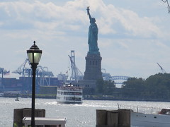 2019 Statue of Liberty with Ferry Boats Battery Park 7389 (Brechtbug) Tags: 2019 statue liberty ellis island view from battery park lower manhattan new york city winter 08102019 nyc 30 rock cityscape south skyline urban snow covered afternoon august summer summertime sculpture lighthouse french gift france building art arts birthday lady eiffel frederic auguste bartholdi