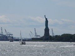 2019 Statue of Liberty with Sail Boat Battery Park 7422 (Brechtbug) Tags: 2019 statue liberty ellis island view from battery park lower manhattan new york city winter 08102019 nyc 30 rock cityscape south skyline urban snow covered afternoon august summer summertime sculpture lighthouse french gift france building art arts birthday lady eiffel frederic auguste bartholdi