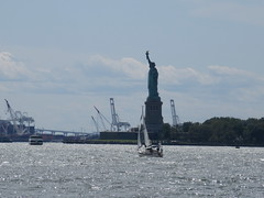 2019 Statue of Liberty with Sail Boat Battery Park 7418 (Brechtbug) Tags: 2019 statue liberty ellis island view from battery park lower manhattan new york city winter 08102019 nyc 30 rock cityscape south skyline urban snow covered afternoon august summer summertime sculpture lighthouse french gift france building art arts birthday lady eiffel frederic auguste bartholdi