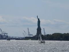 2019 Statue of Liberty with Sail Boat Battery Park 7417 (Brechtbug) Tags: 2019 statue liberty ellis island view from battery park lower manhattan new york city winter 08102019 nyc 30 rock cityscape south skyline urban snow covered afternoon august summer summertime sculpture lighthouse french gift france building art arts birthday lady eiffel frederic auguste bartholdi