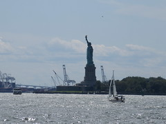 2019 Statue of Liberty with Sail Boat Battery Park 7416 (Brechtbug) Tags: 2019 statue liberty ellis island view from battery park lower manhattan new york city winter 08102019 nyc 30 rock cityscape south skyline urban snow covered afternoon august summer summertime sculpture lighthouse french gift france building art arts birthday lady eiffel frederic auguste bartholdi