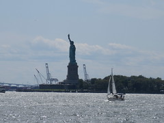 2019 Statue of Liberty with Sail Boat Battery Park 7415 (Brechtbug) Tags: 2019 statue liberty ellis island view from battery park lower manhattan new york city winter 08102019 nyc 30 rock cityscape south skyline urban snow covered afternoon august summer summertime sculpture lighthouse french gift france building art arts birthday lady eiffel frederic auguste bartholdi