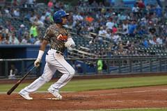 Mejia hitting a double (Minda Haas Kuhlmann) Tags: sport baseball milb minorleaguebaseball pacificcoastleague omahastormchasers nebraska omaha papillion sarpycounty outdoors erickmejia