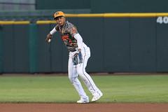 Mejia on defense (Minda Haas Kuhlmann) Tags: sport baseball milb minorleaguebaseball pacificcoastleague omahastormchasers nebraska omaha papillion sarpycounty outdoors erickmejia