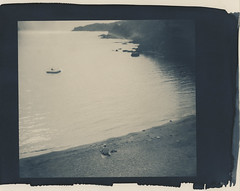 sparkly beach (lawatt) Tags: toned cyanotype wares altprocess hahnemuhleplatinumrag france beach water mediterranean banyulssurmer