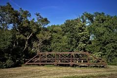 Bridge to Nowhere - Lincoln Highway - Franklin Grove  IL (Meridith112) Tags: lincolnhighway il illinois august summer 2019 nikon nikon2485 nikond610 midwest bridge bluesky rust abandoned franklingrove leecounty trees old vintage