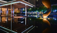 Shanghai - Reflections at Wheelock Square (cnmark) Tags: china shanghai jingan district nanjing west road huashan modern architecture wheelock square skyscraper wolkenkratzer gratteciel grattacielo rascacielo arranhacéu night light nacht nachtaufnahme noche nuit notte noite art statue reflection reflected pond 摩天大楼 会德丰国际广场 华山路 南京西路 中国 上海 静安区 ©allrightsreserved