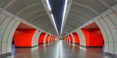 Vienna Wien - Zieglergasse Subway (Oliver Kuehne) Tags: orange subway vienna wien zieglergasse metro ubahn tram westbahnhof