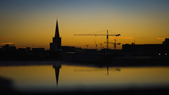 ▄↨▄┤▄▄█ (Dara or) Tags: reflection sunset light cathederal puddle
