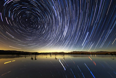 Star Trails Over Lake Henshaw (slworking2) Tags: stars startrails starstax lakehenshaw night longexposure reservoir sandiego california water lake lago