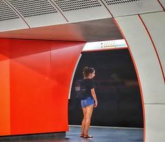 Vienna Wien - Zieglergasse Subway (Oliver Kuehne) Tags: orange passanger subway wien vienna street