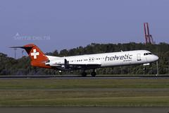 HB-JVG F100 HELVETIC AIRWAYS YBBN (Sierra Delta Aviation) Tags: helvetic airways alliance airlines fokker100 f100 brisbane airport ybbn hbjvg