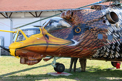 Mil Mi-24D Hind (srkirad) Tags: aviation museum aviationmuseum reptar szolnok hungary helicopter chopper military mil mi24 hind paintjob art livery special eagle feathers