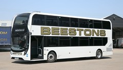 New this year at Beestons of Hadleigh is YX19OUW in between duties at its home base. (Gobbiner) Tags: beestonsofhadleigh e400mmc adl yx19ouw enviro