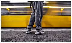feiyue..... (Pentaxgraf Berlin) Tags: shoes feiyue tram langzeitbelichtung berlin snapped snap shot streetcar sigma 1020 mm muhammed ali jogging hose