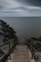 Seascapes (selvagedavid38) Tags: steps sea essex longexposure seascape coast water sky tide time grey waltononthenaze shore ocean