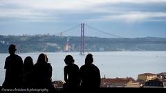 Ponte 25 de Abril (www.chriskench.photography) Tags: bridge europe lisbon copyright candid travel 18135 lisboa xt2 street silhouetts kenchie wwwchriskenchphotography fujifilm portugal lisboaregion river tagus