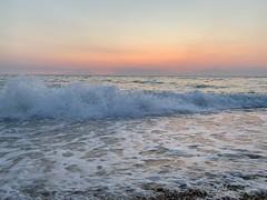 sea and sky. море и небо. (svv.david) Tags: sea sky blue water sunny heat summer wave color evening sunset pink foam splashing white небо облако синий жарко жара тепло лето вода море cloud hot